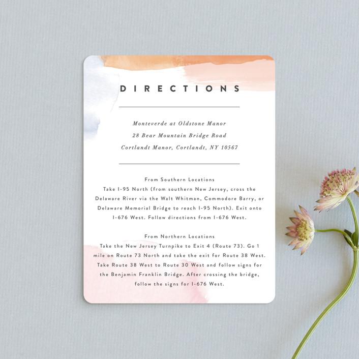 """Watercolor Wisp"" - Modern Direction Cards in Blush by Ariel Rutland."