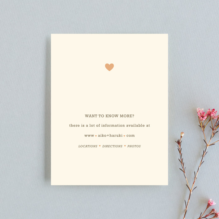 """Love Struck"" - Whimsical & Funny Direction Cards in Pale Salmon by The Social Type."