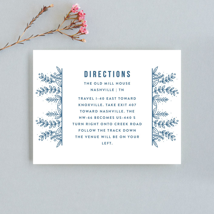 """Botanical"" - Direction Cards in Cobalt by Bethan."