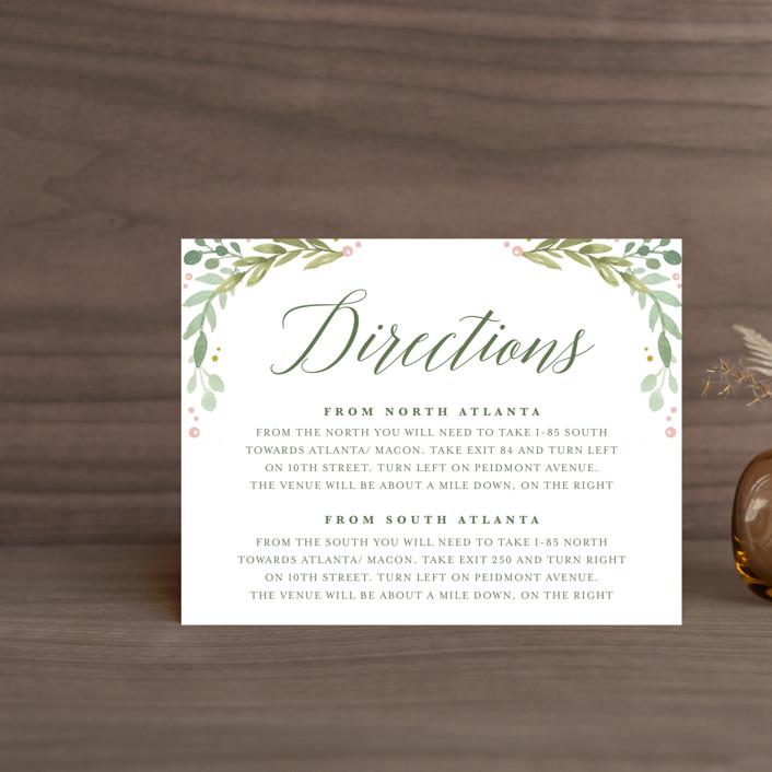 """Garden Glamour"" - Direction Cards in Sage by Kristen Smith."
