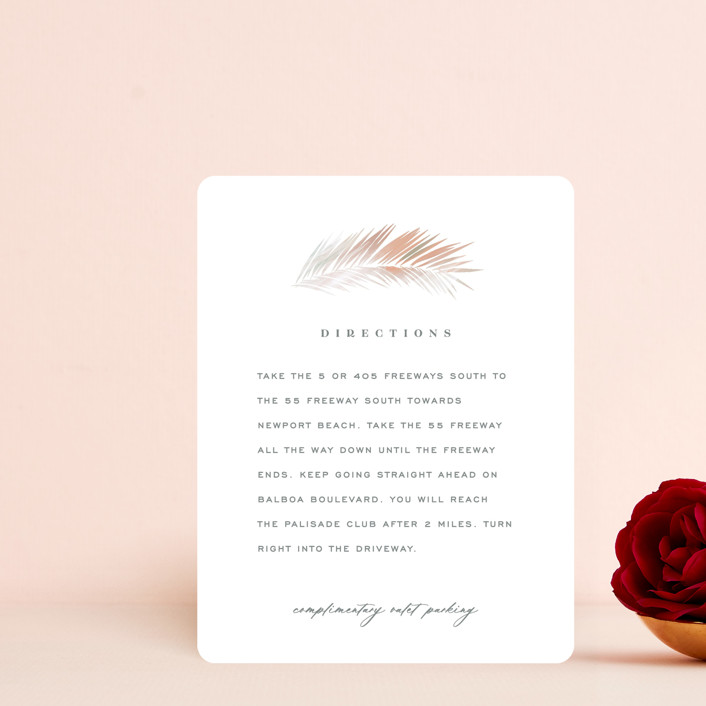 """""""Painted Leaves"""" - Bohemian Direction Cards in Coconut by Owl and Toad."""