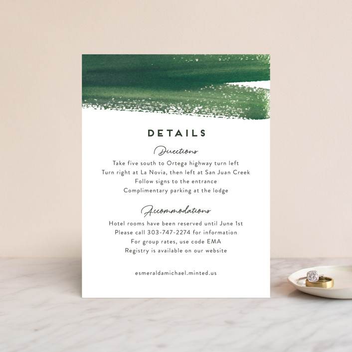 """""""Evergreens Watercolor"""" - Direction Cards in Forest by Yao Cheng Design."""