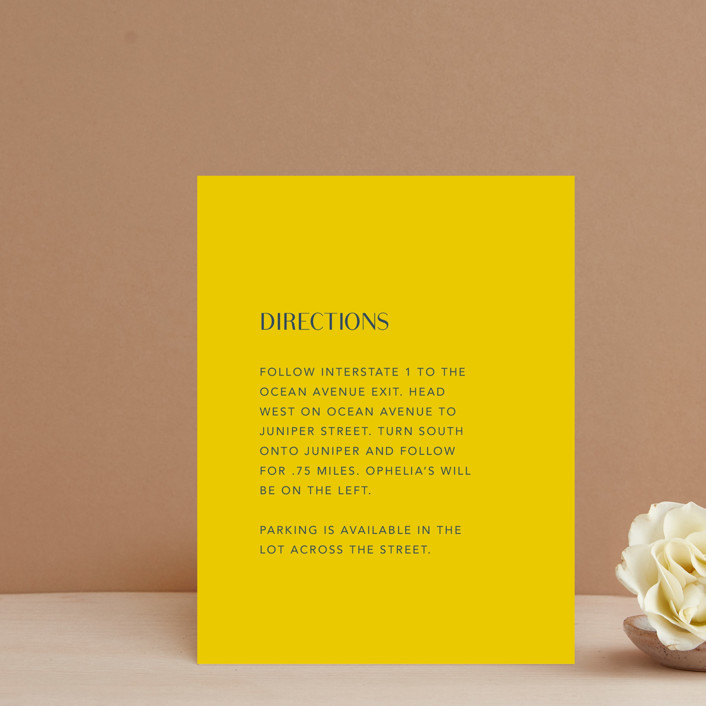 """Ophelia"" - Modern Direction Cards in Golden by Mere Paper."