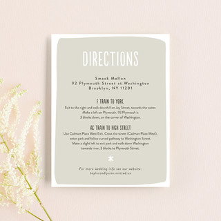 Love Lettered Direction Cards