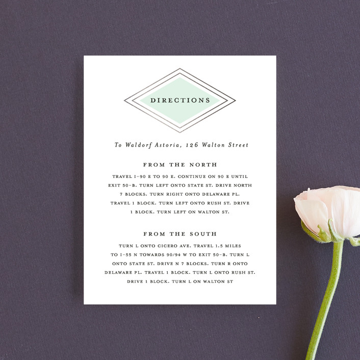 """""""Modern Elegance"""" - Modern Direction Cards in Mint by Stacey Meacham."""
