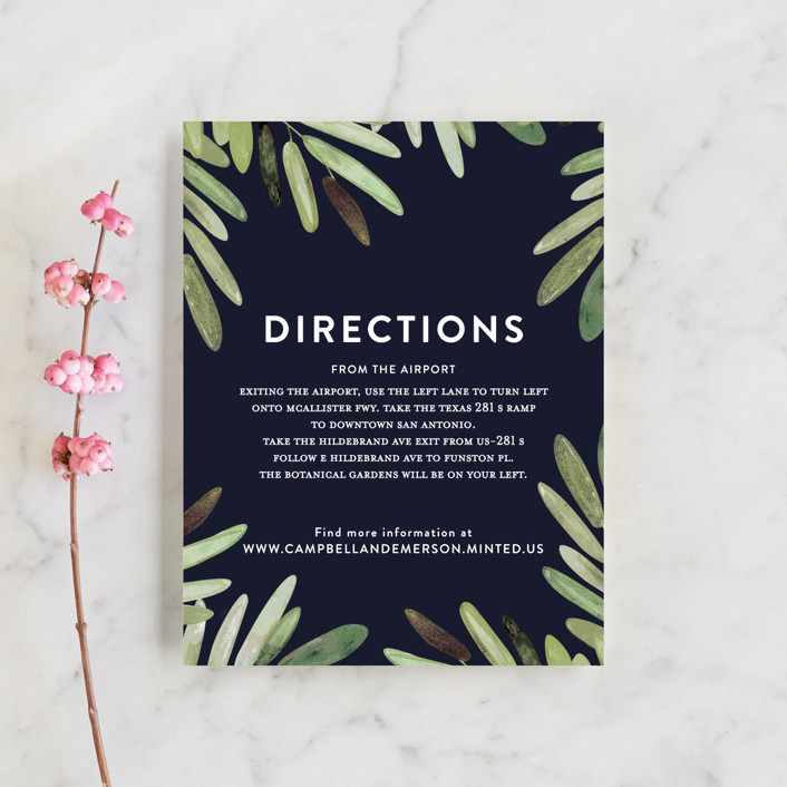 """Parting Branches"" - Direction Cards in Midnight by Haley Warner."