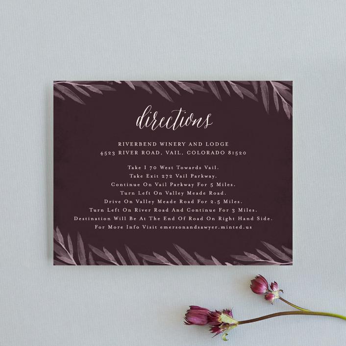"""Vivid Blooms"" - Direction Cards in Dusk by Grace Kreinbrink."