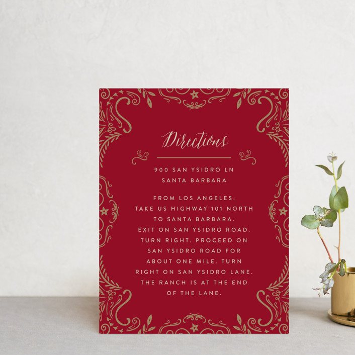 """Wedding Enchantment"" - Vintage Direction Cards in Midnight by Chris Griffith."