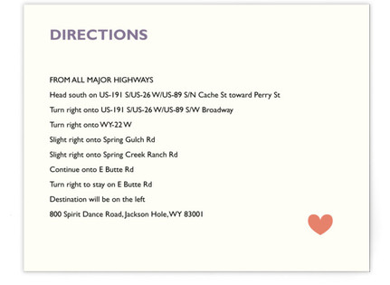 Two Brides Destination Directions Cards