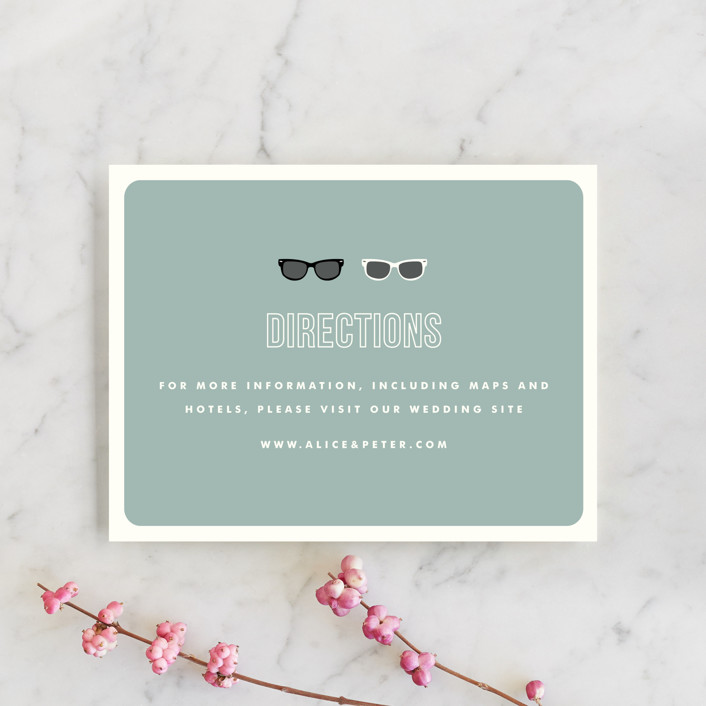 """""""Shades"""" - Whimsical & Funny Direction Cards in Celadon by Olive and Violet."""