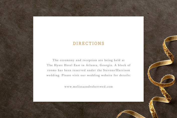 """Ornate Monogram"" - Monogrammed, Formal Direction Cards in Faux Gold by Kristen Smith."