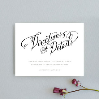 Traditional Royalty Direction Cards