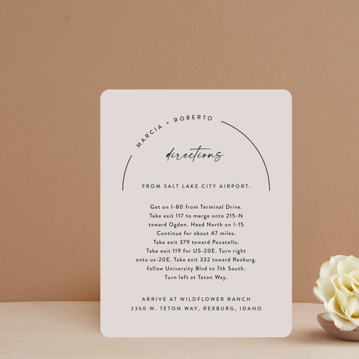 """""""Overjoyed"""" - Direction Cards in Almond by Jill Means."""