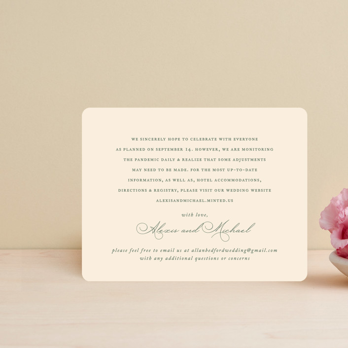 """""""Initial"""" - Direction Cards in Sage by Jennifer Postorino."""