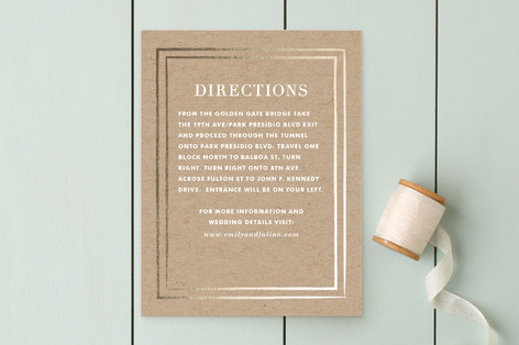 Band of Gold Direction Cards