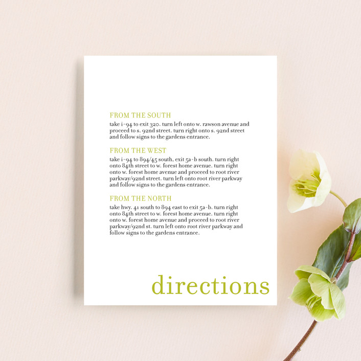 """float + celebrate"" - Modern Direction Cards in Celery by Float Paperie."