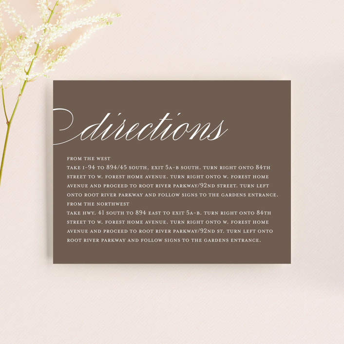 """Sweet Scallop"" - Modern Direction Cards in Taupe by annie clark."