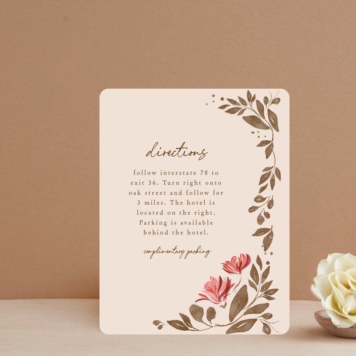 """""""Painterly Florals"""" - Direction Cards in Scarlet by Vivian Yiwing."""