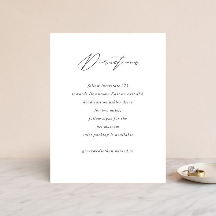 """""""first dance"""" - Direction Cards in Champagne by Kasia Labocki."""