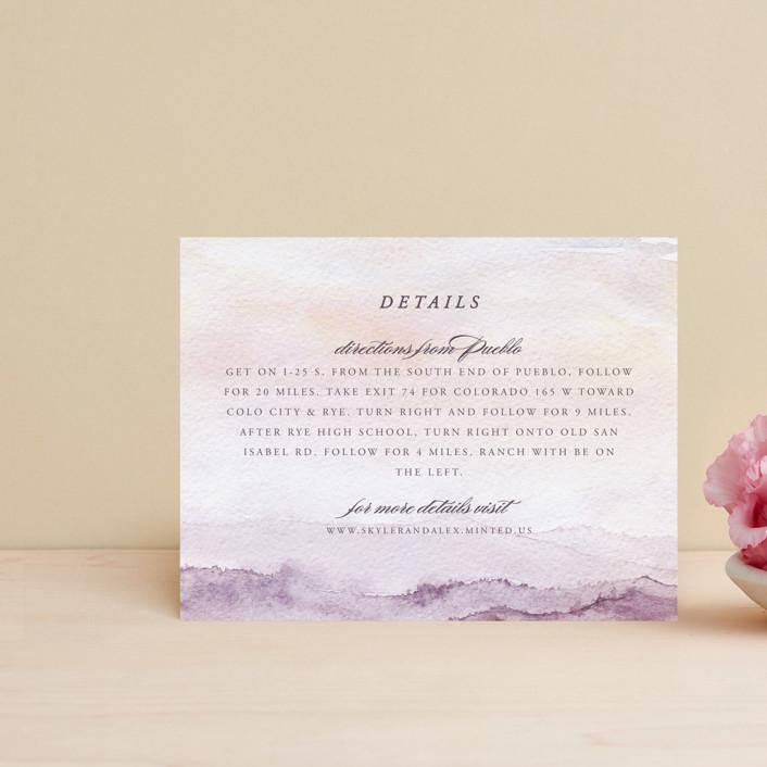 """mountain wedding"" - Destination Direction Cards in Sunrise by Anastasia Makarova."