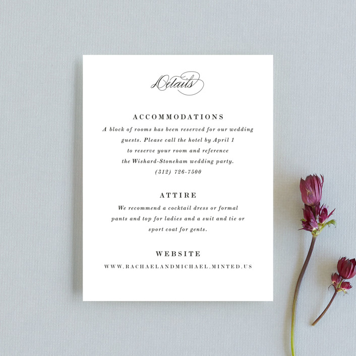 """Understated Elegance"" - Direction Cards in Cotton by Kimberly FitzSimons."