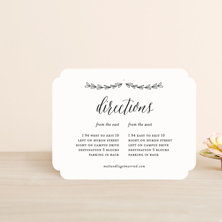 """""""Always"""" - Direction Cards in Blush by Susan Brown."""