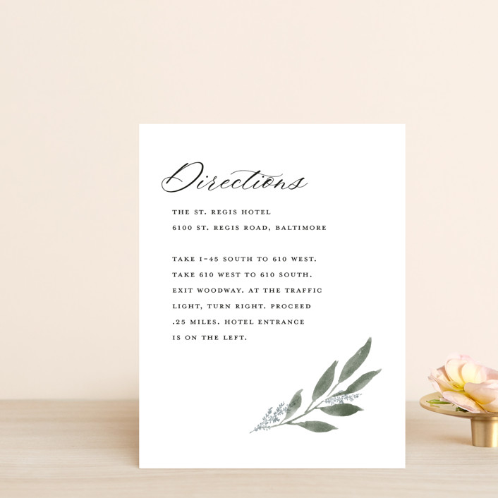 """""""Pressed Foliage"""" - Direction Cards in Heather by Stacey Meacham."""