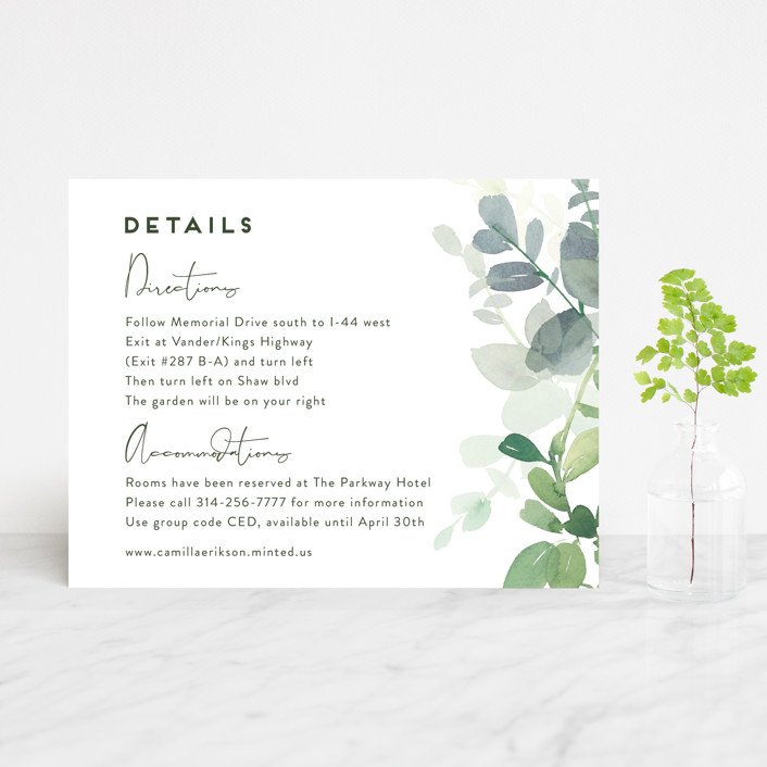 """""""Soft Eucalyptus"""" - Direction Cards in Garden by Yao Cheng Design."""