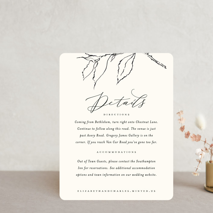 """""""Elysium"""" - Direction Cards in Linen by Design Lotus."""