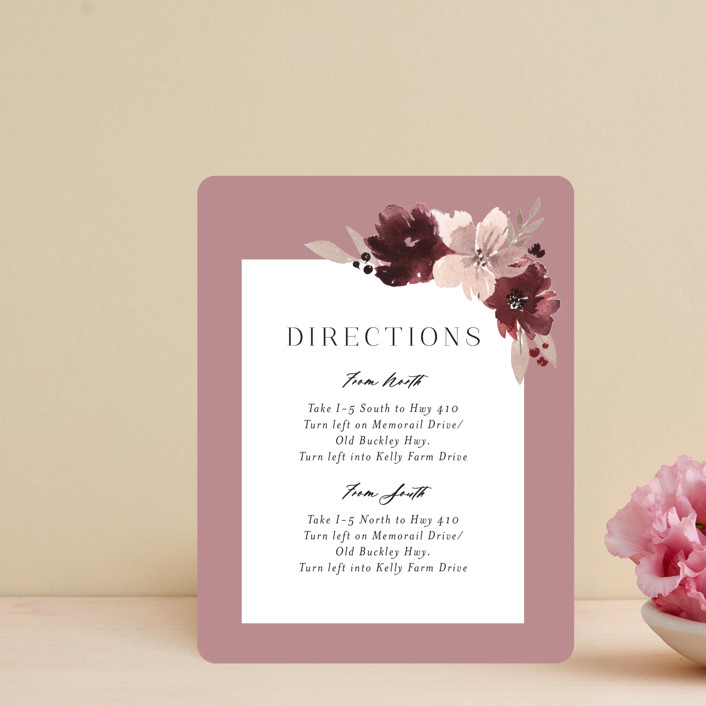 """Emyn"" - Direction Cards in Burgundy by Itsy Belle Studio."