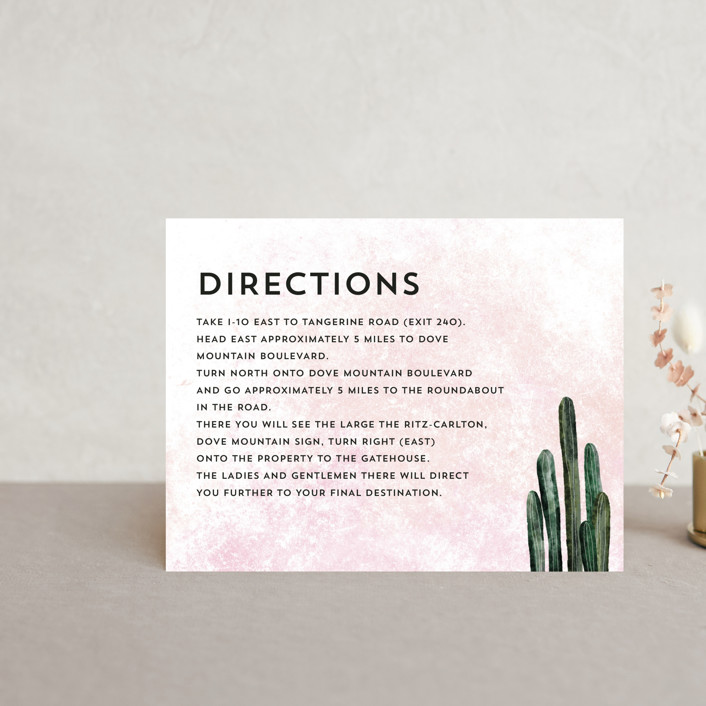 """""""Cacti"""" - Direction Cards in Rose Crystal by Cass Loh."""