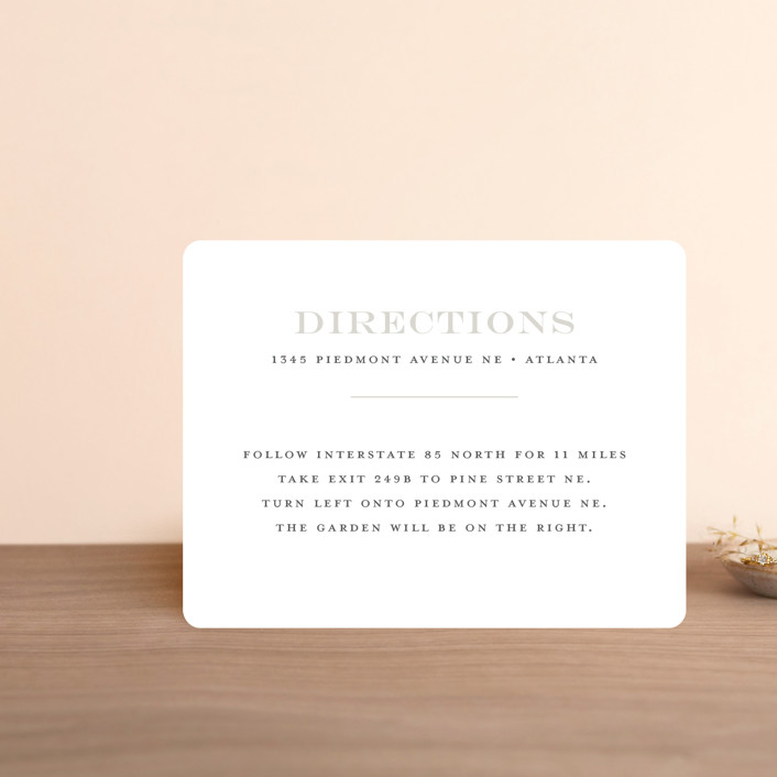 """""""Classical"""" - Direction Cards in Taupe by Jessica Williams."""