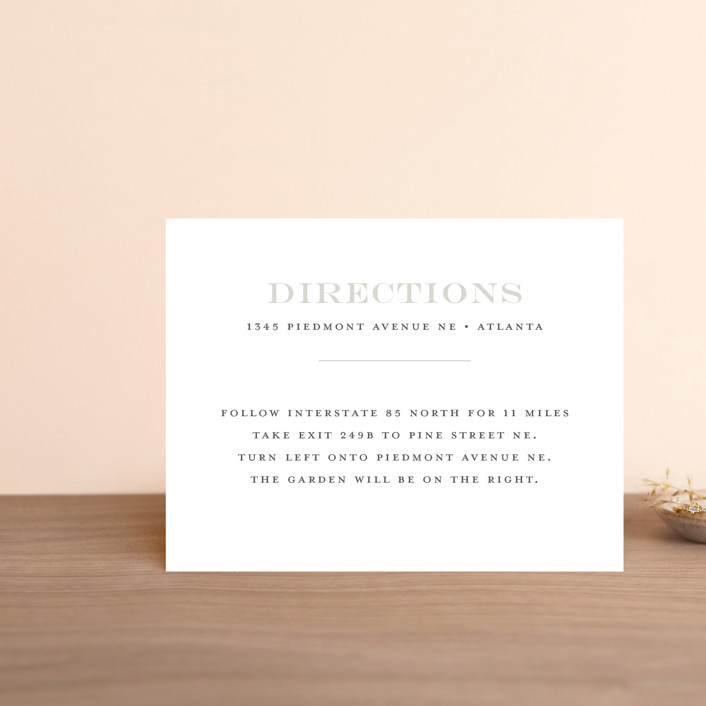 """Classical"" - Direction Cards in Taupe by Jessica Williams."