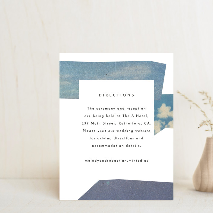 """""""sky poetry"""" - Modern Direction Cards in Daylight by Sumak Studio."""