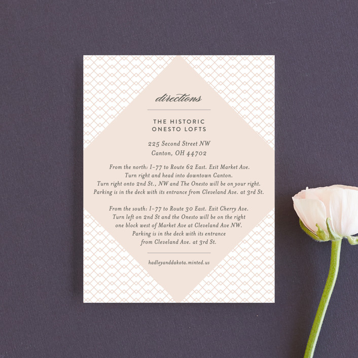 """""""Elegantly Lined"""" - Direction Cards in Petal by Robin Ott."""