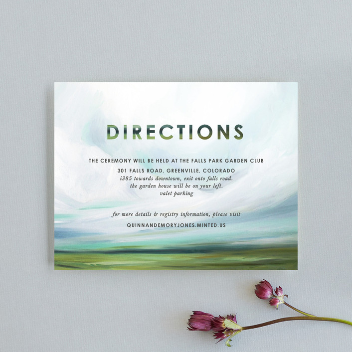 """""""Fresh Lands"""" - Direction Cards in Teal by Emily Jeffords."""