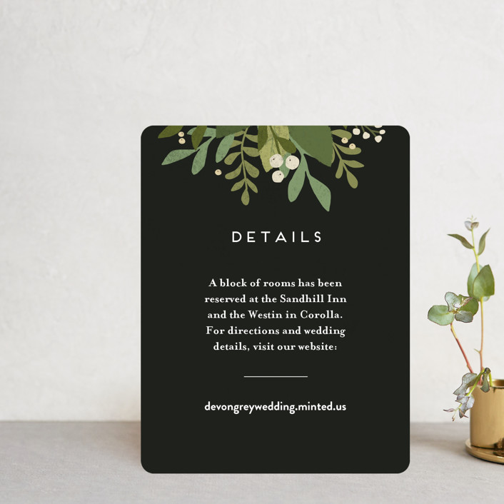 """""""Laurel of Greens"""" - Direction Cards in Midnight by Jennifer Wick."""