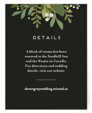 Laurel of Greens Directions Cards