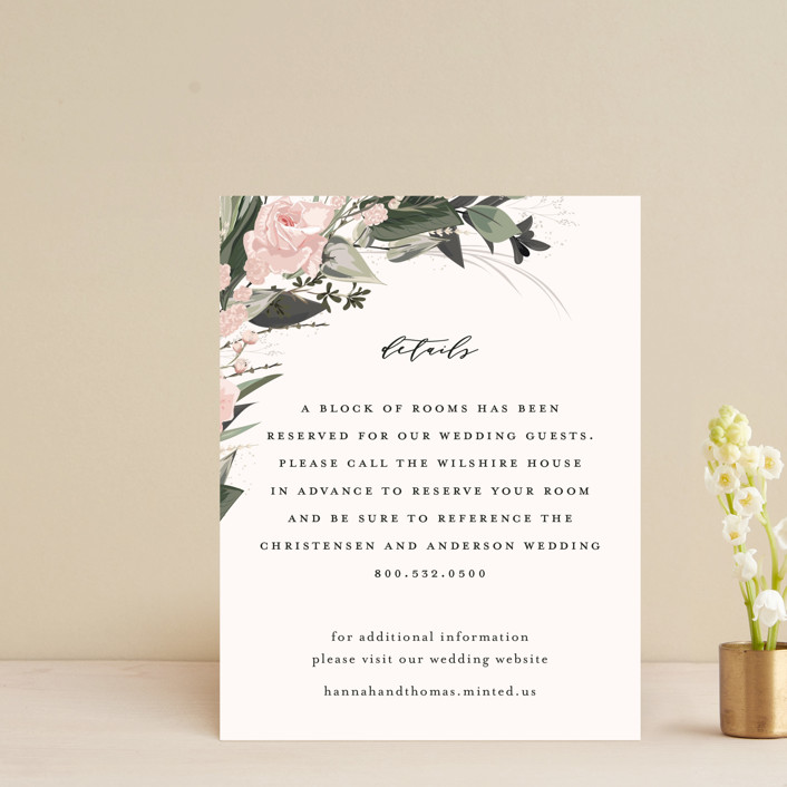 """Ivory Ring"" - Direction Cards in Blush by Susan Moyal."