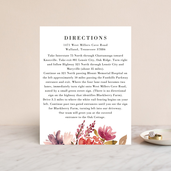 """""""Autumn Vows"""" - Direction Cards in Burnt Orange by Chris Griffith."""