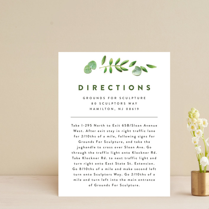 """Leaf Arc"" - Direction Cards in Sage by Ariel Rutland."