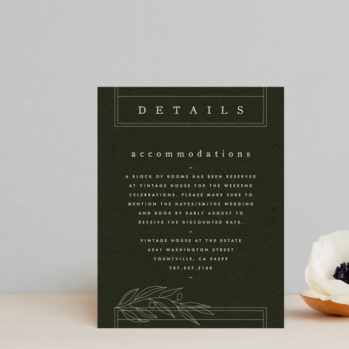 """""""delicate seal"""" - Bohemian, Modern Direction Cards in Olive by Lindsay Stetson Thompson."""