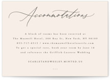 This is a pink enclosure card by Hooray Creative called Scarlet with standard printing on signature in standard.