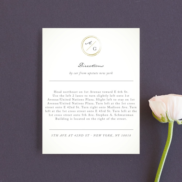 """""""Monogram Circle Stamp"""" - Direction Cards in Antique White by fatfatin."""