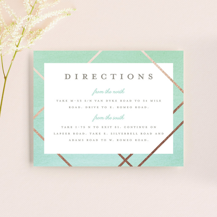 """Watercolor Union"" - Modern Direction Cards in Aqua by Genna Cowsert."