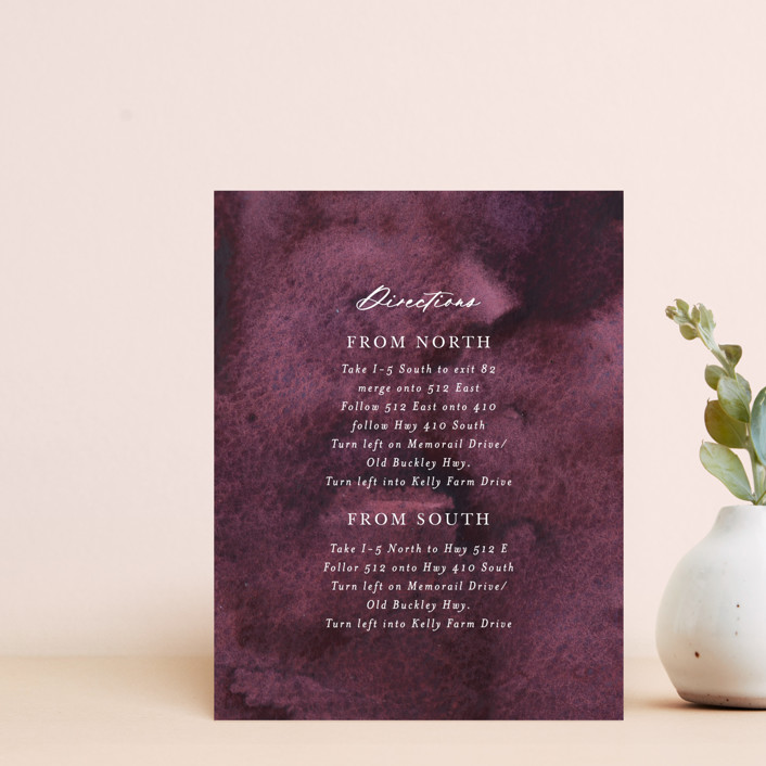 """iliya"" - Direction Cards in Bordeaux by Itsy Belle Studio."