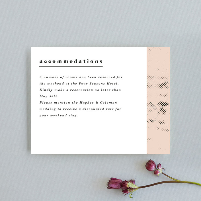 """""""New York"""" - Monogram Direction Cards in Blush by Nazia Hyder."""