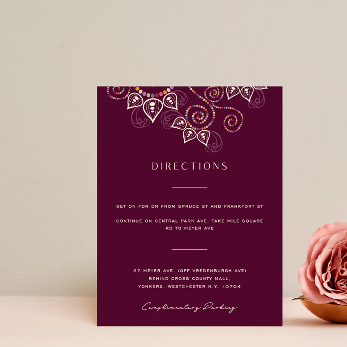 """""""Henna"""" - Direction Cards in Mixed Berry by fatfatin."""