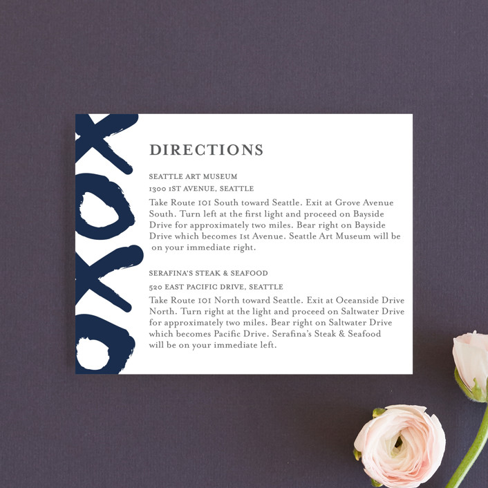 """""""Brushed Love"""" - Modern Direction Cards in Night Navy by Lisa Tamura Guerrero."""