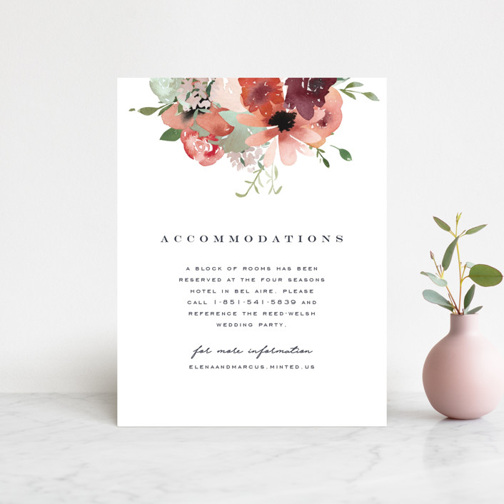 """""""Cascading Florals"""" - Direction Cards in Rouge by Leah Bisch."""